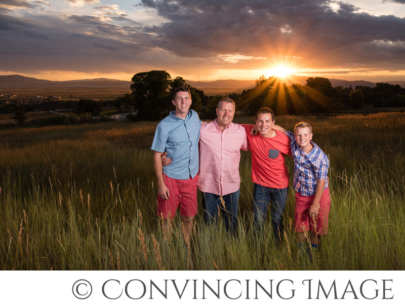 Logan Utah Family Photographer at Sunset