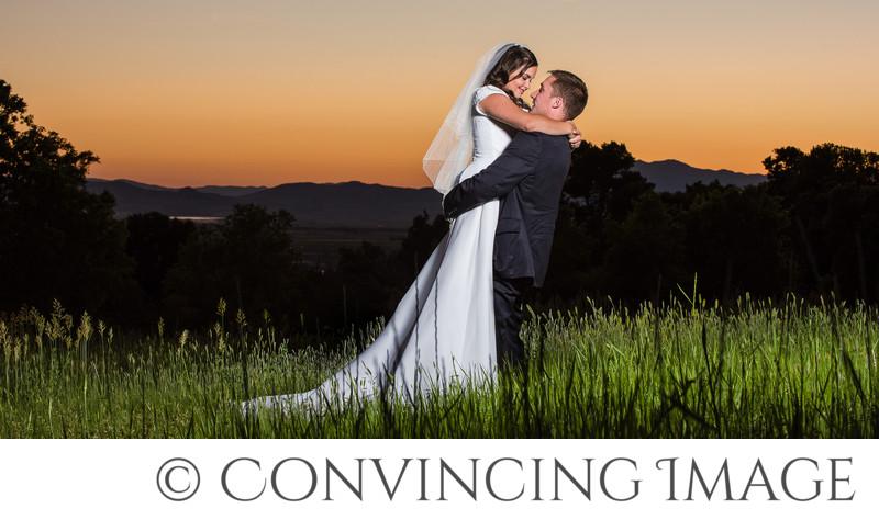 Logan Utah Wedding Photographer at Sunset