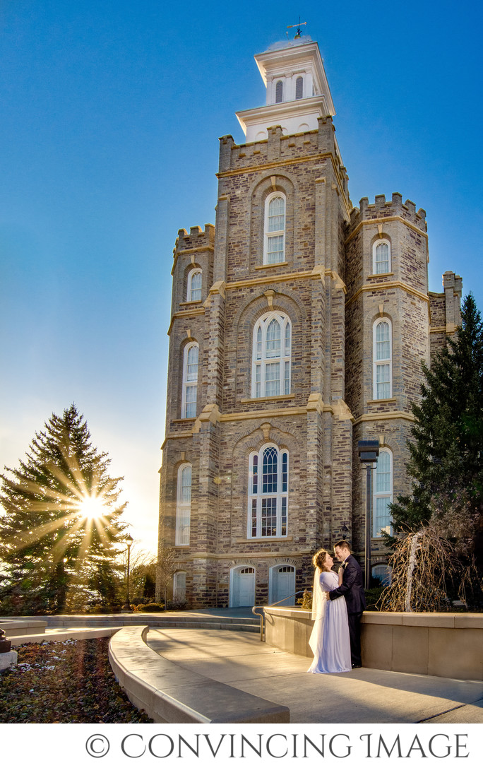 Logan Temple Wedding Photography Jessica & James