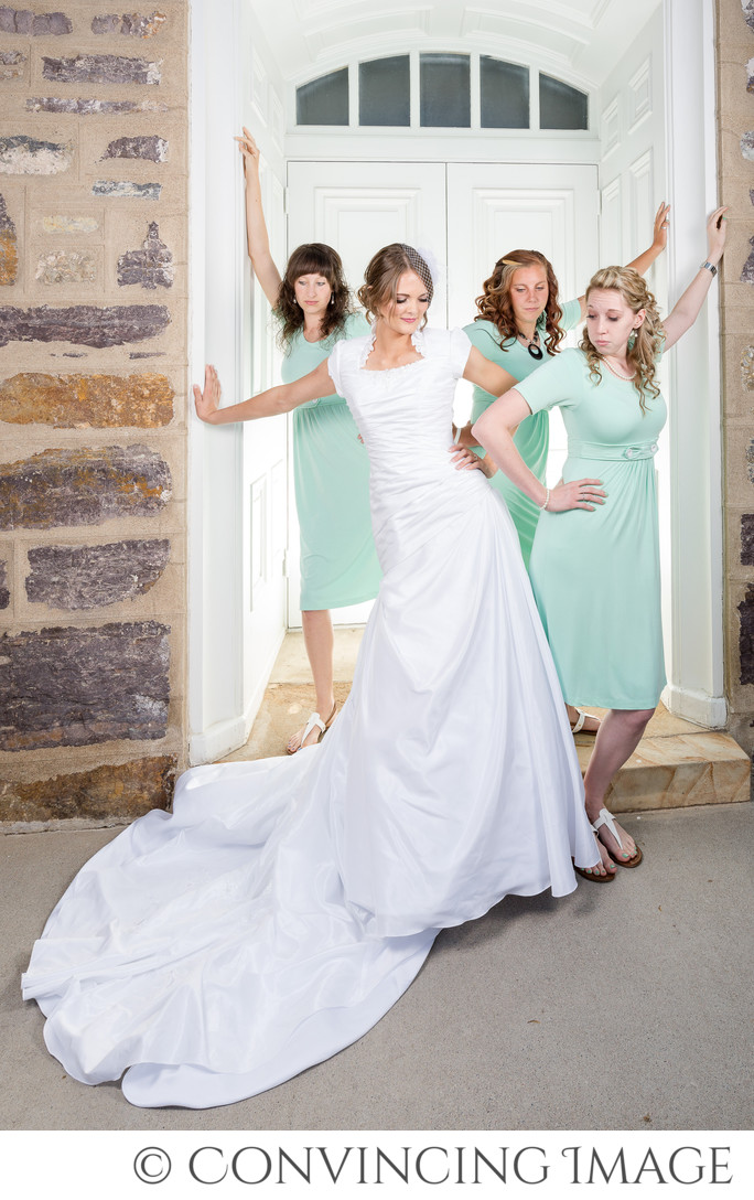 Logan Temple Bridesmaids