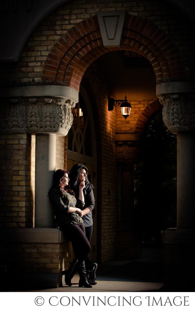 Old Main USU Engagement Photography