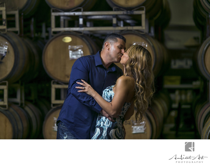 Irene & Tony winery engagement session