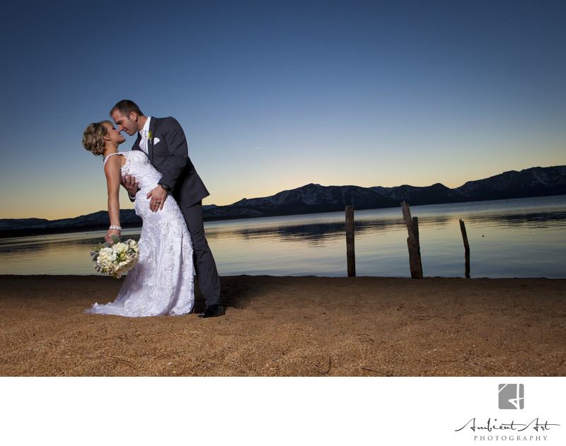 First look on their wedding Day, Edgewood Golf course