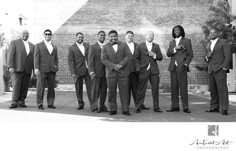 Groomsmen portrait.  Fresno, CA wedding