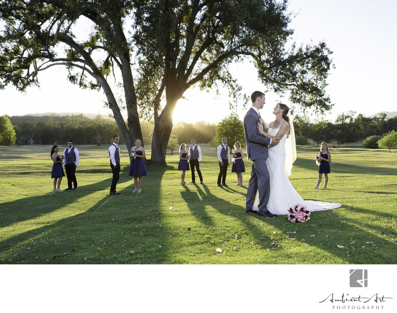 Bridal Party at Sunset, Sierra Meadows Golf course