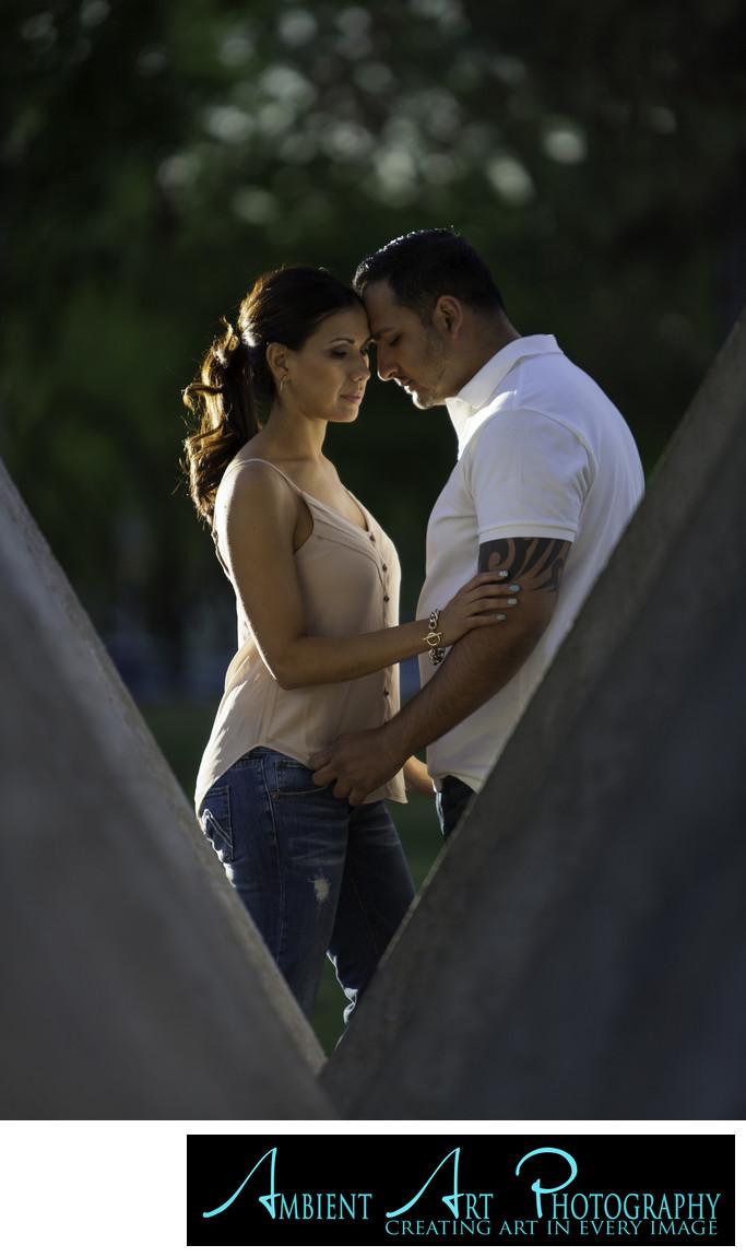 Engagement photo at Fresno State