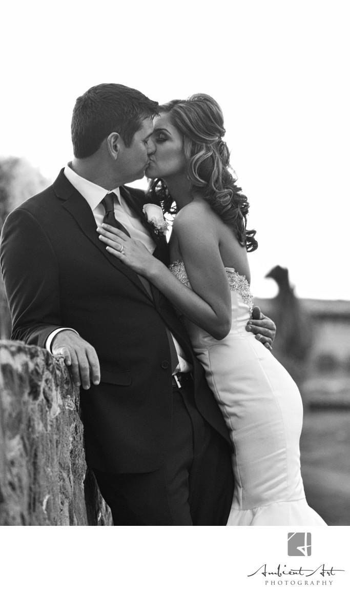 Couple kissing at Copper River Golf Course, Clovis
