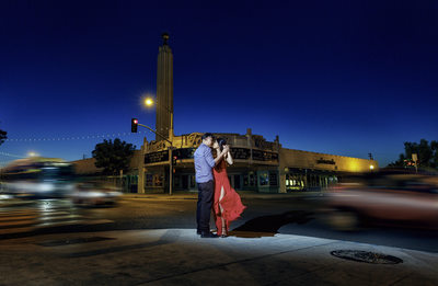 Fresno Engagement Session, at Tower Theater