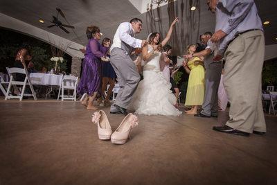 Wedding couple dancing, Tuscan Gardens
