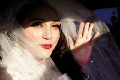 Lovely bride in the sun, School House Restaurant
