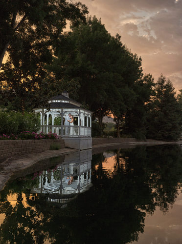Wonder Valley Wedding, Sanger, CA Gazebo at Sunset
