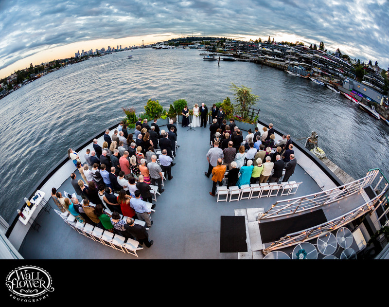 MV Skansonia wedding ceremony from upper deck