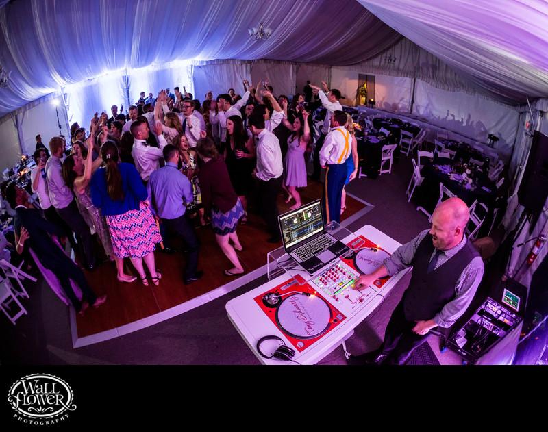 DJ Tony Schwartz plays Chambers Bay wedding reception