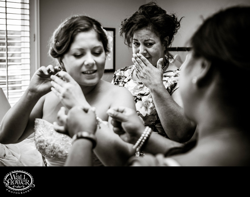 Bride's mom tears up as daughter preps for wedding
