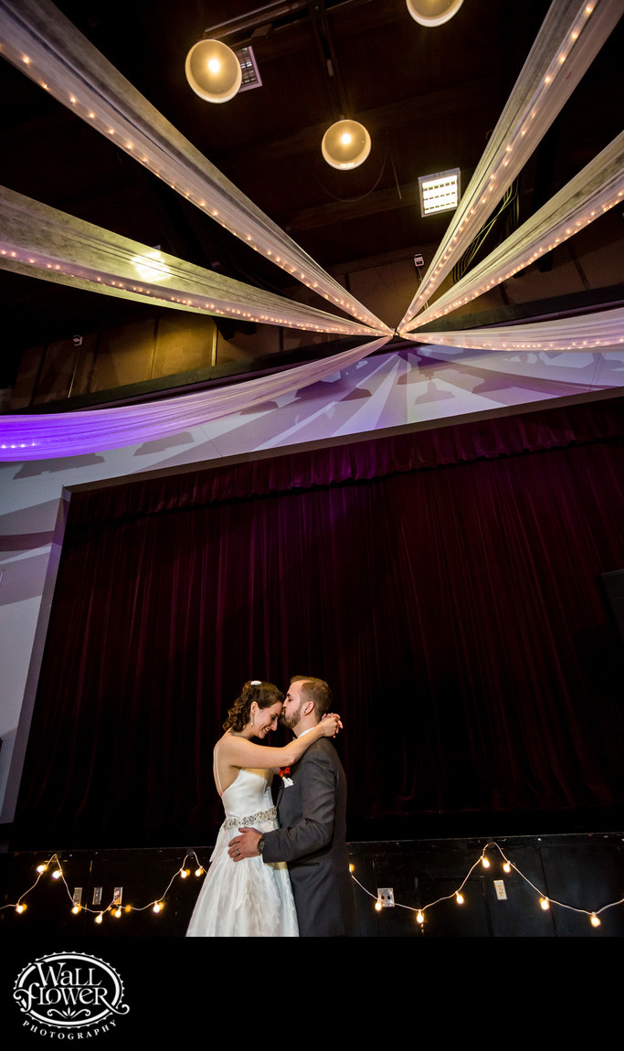 Bride and groom enjoy first dance at GRCC