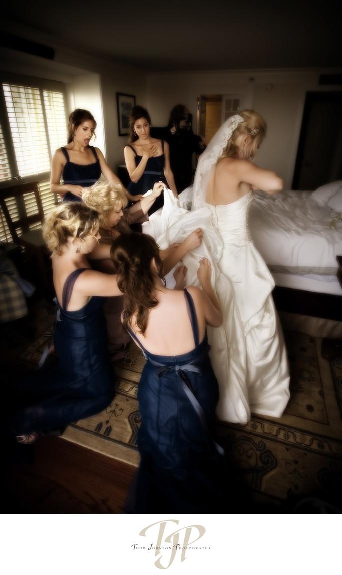 Shutters wedding dress