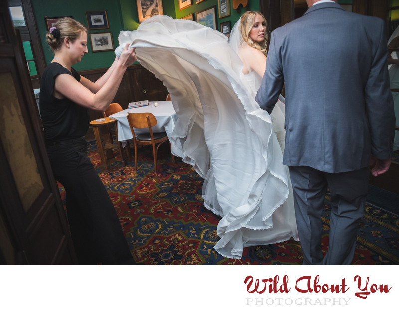 SF university club wedding photographer