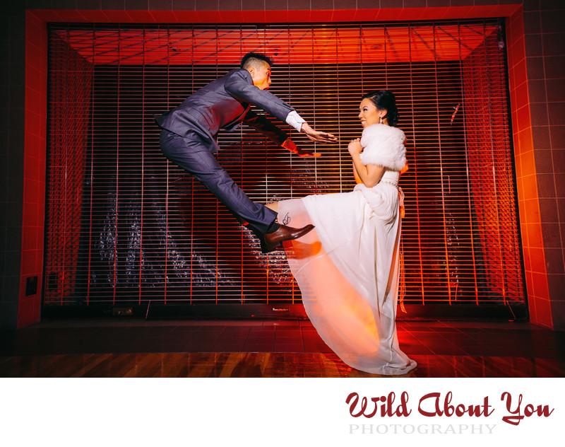 dynamic action wedding photographer