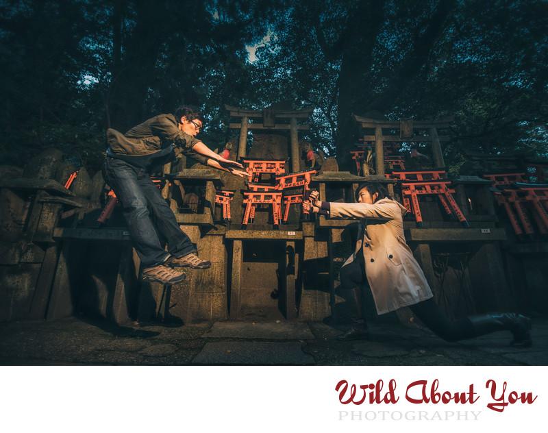 epic kyoto engagement photography