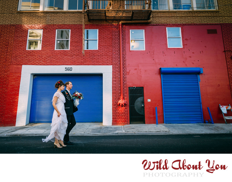 colorful sf bay area wedding photography