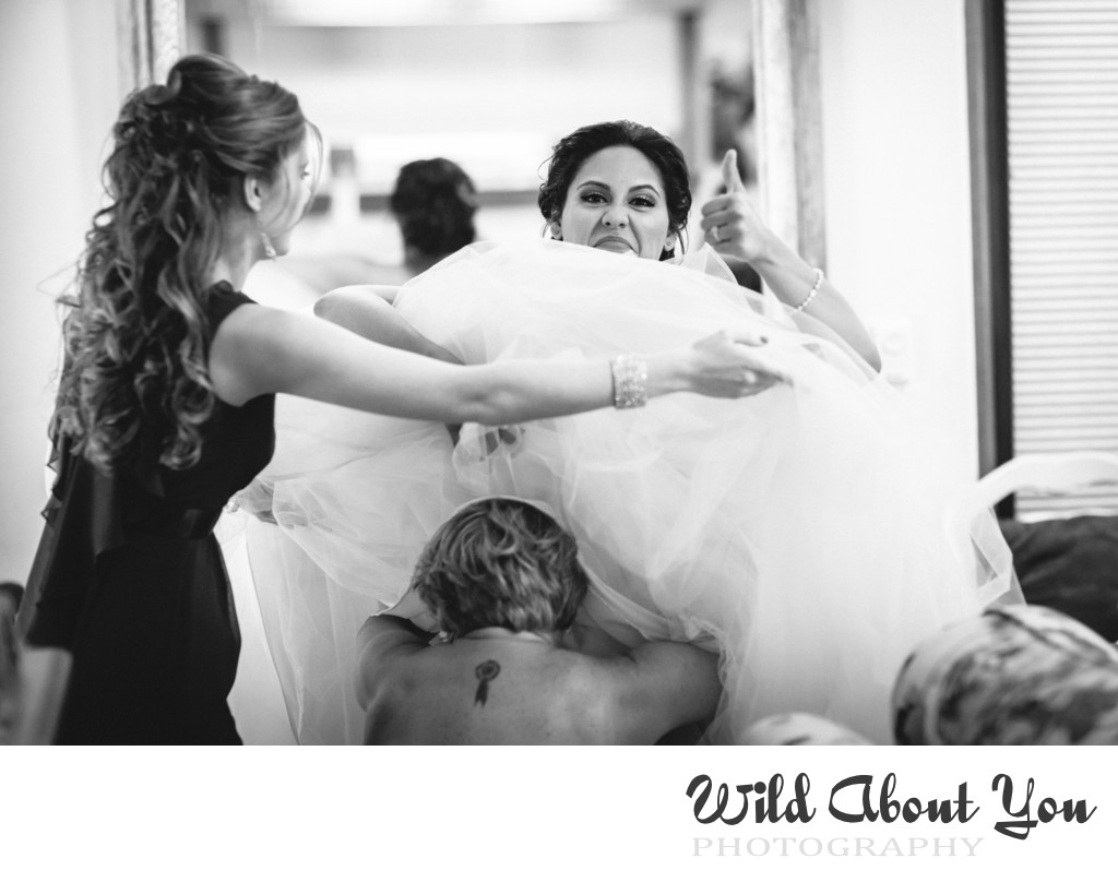 fun nestldown wedding photographer