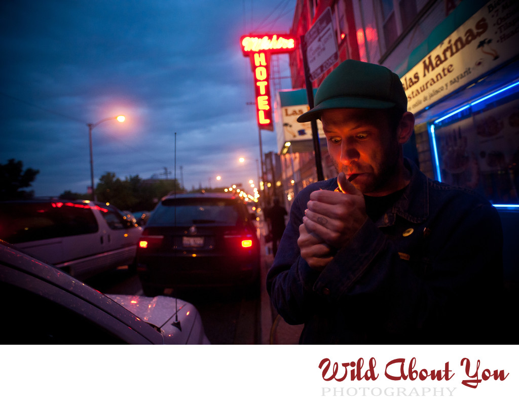 edgy rocknroll portrait photography