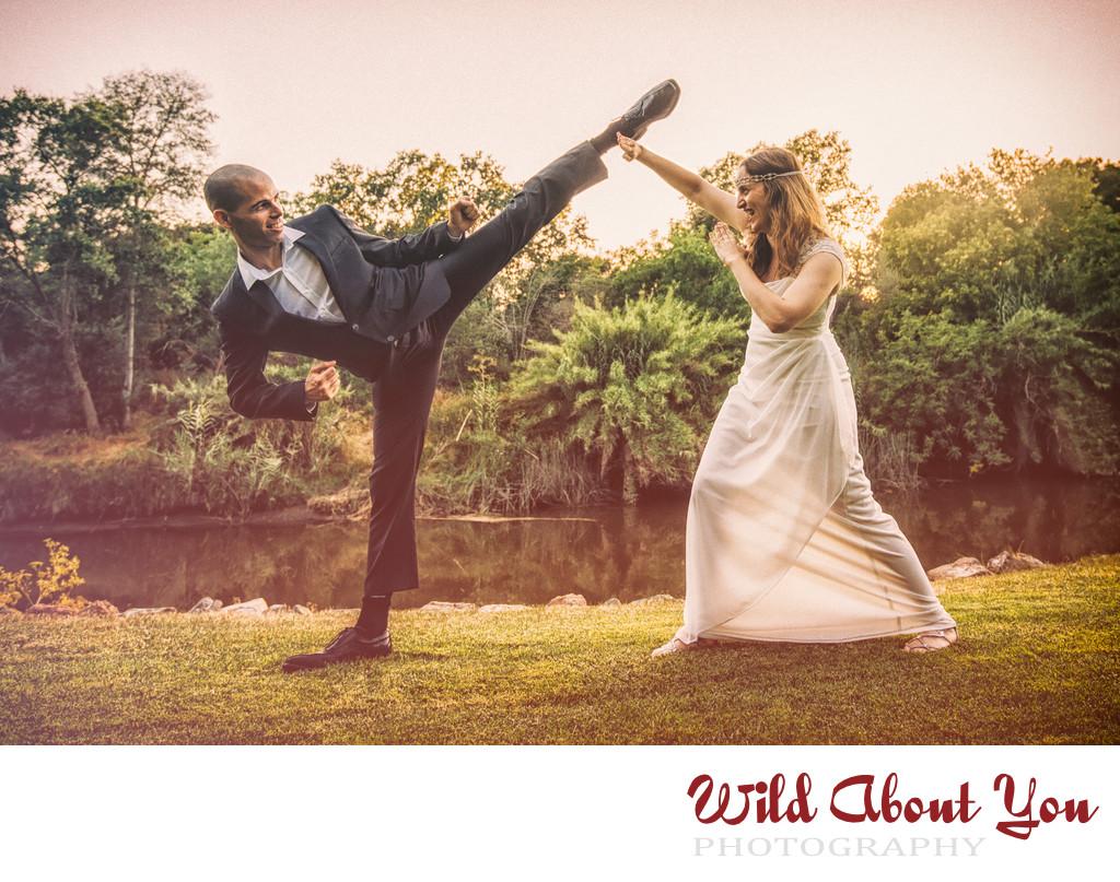 fun napa elopement wedding photographer