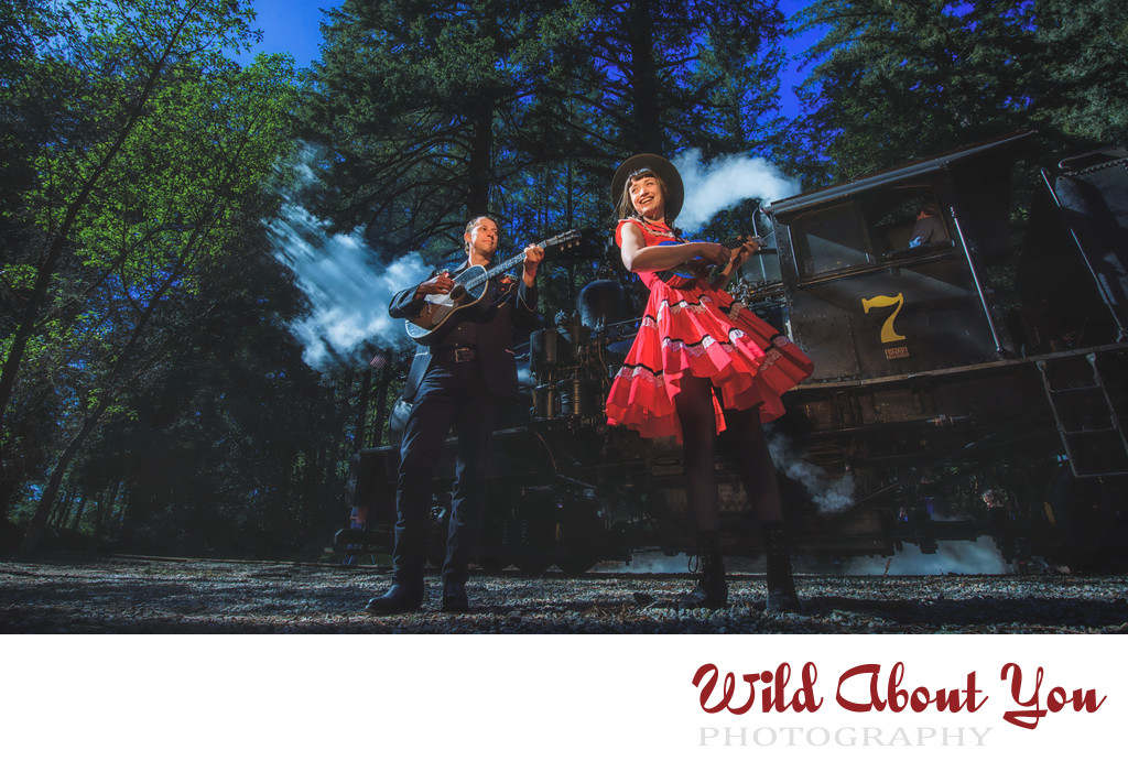 roaring camp engagement photography
