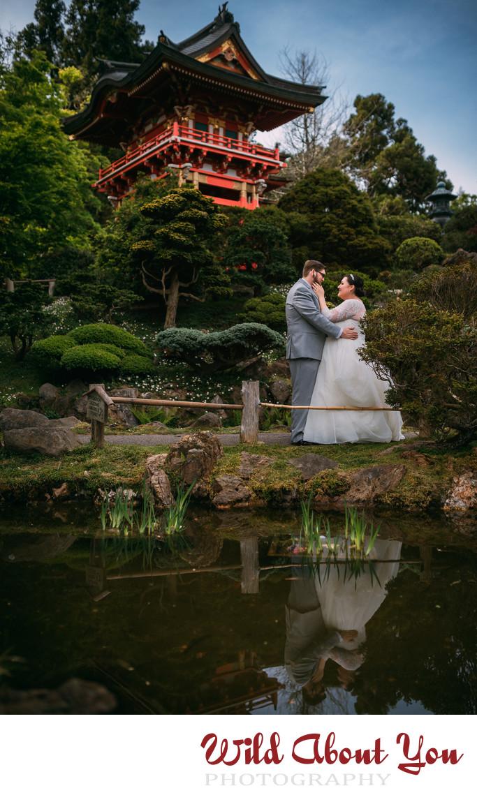 japanese tea garden elopement photographer
