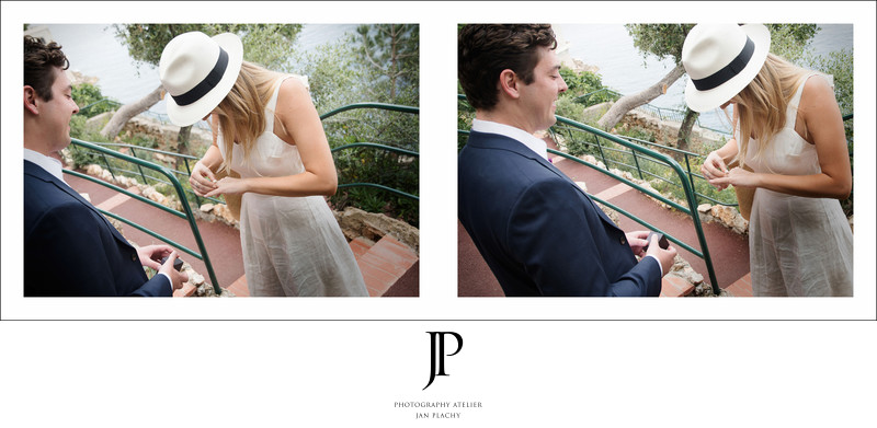 Marriage proposal French riviera captured Jan Plachy