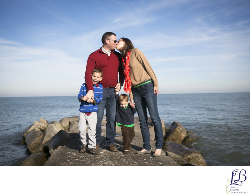 Hungington Beach family portrait