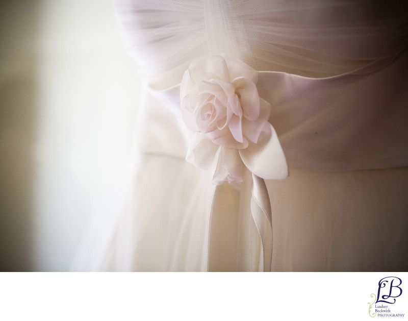 Pale pink flower sash