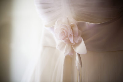 Pale pink flower sash