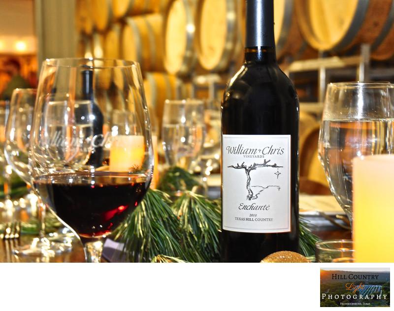 Bottle of William Chris Enchanté served at Wine Club Dinner