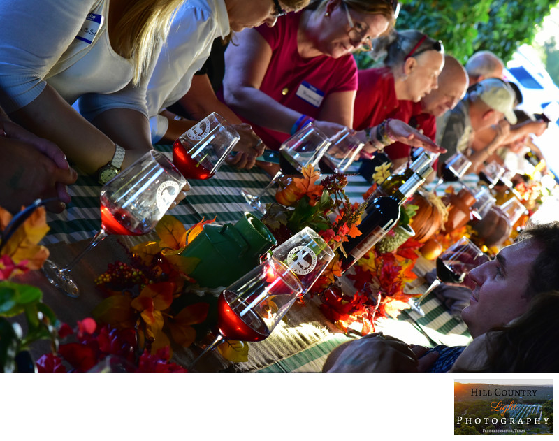Wine Club Member dinner Rancho Ponte Vineyard Fredericksburg TX