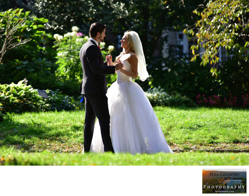 Bride and Groom private moment in the park