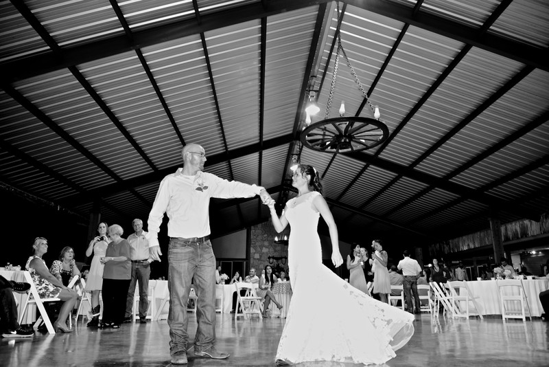 Wedding first dance Happy H Ranch Texas Hill Country
