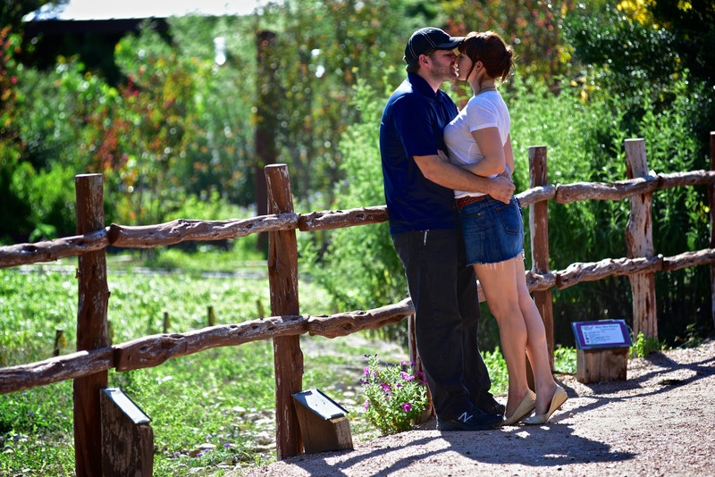 Couple kissing at Wildseed Farms Hill Country Engagement Tour