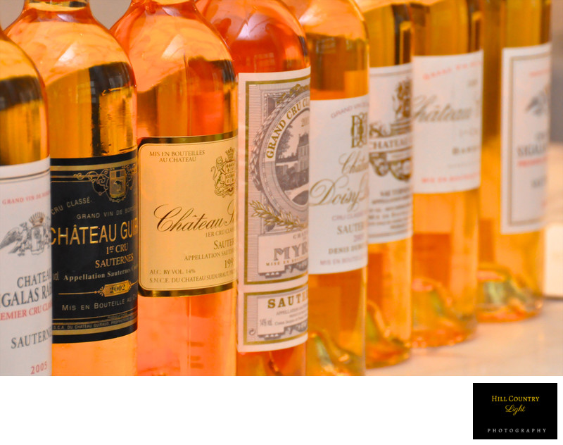 Sauternes bottles Wine and Food pairing Manhattan Anne Riives
