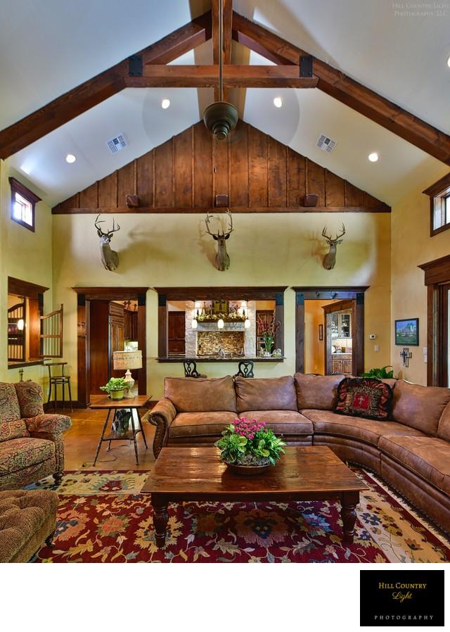 Abundant interior space at custom home on Big Bend lane