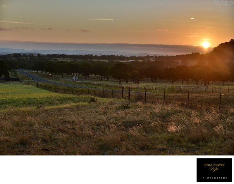 Sunrise over Summers Ranch at Enchanted Rock
