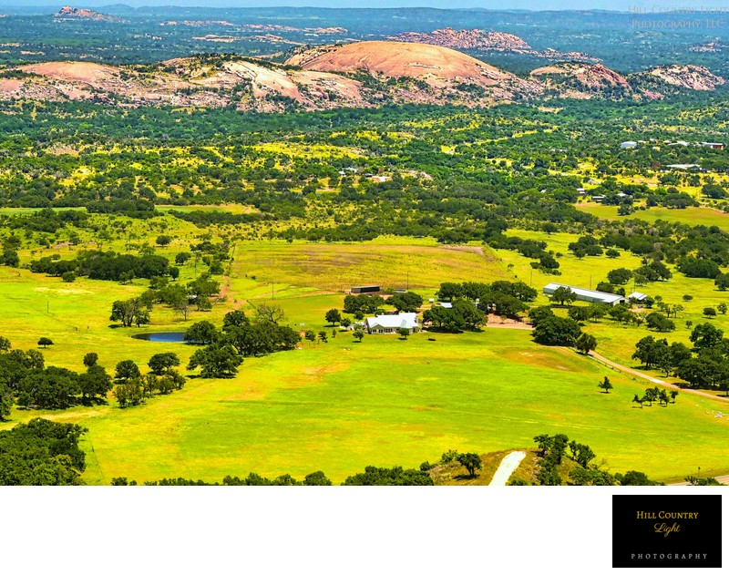 Aerial of Summers Ranch at Enchanted Rock State Park