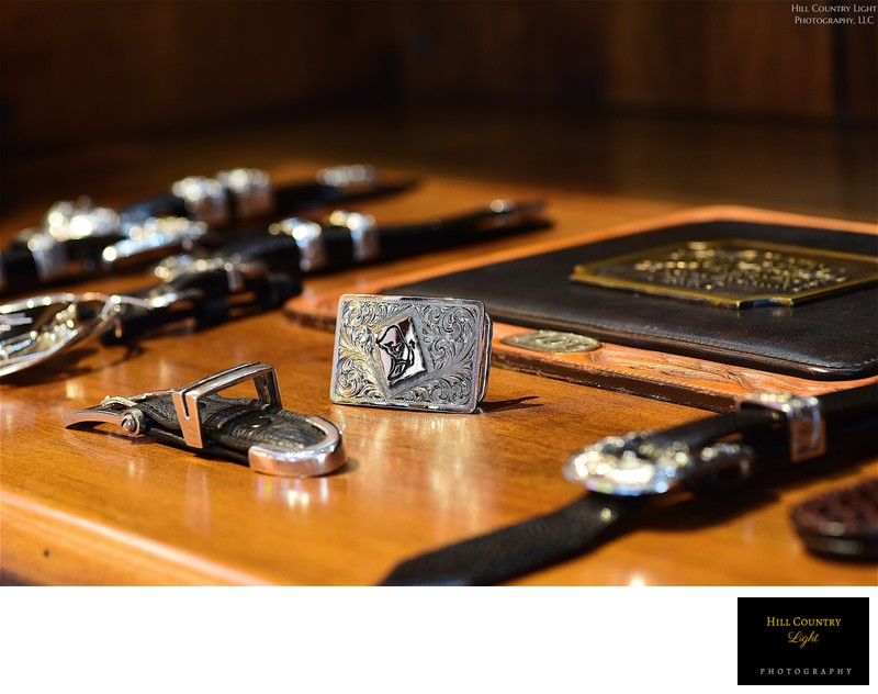 Custom-designed buckles for members at Boot Ranch