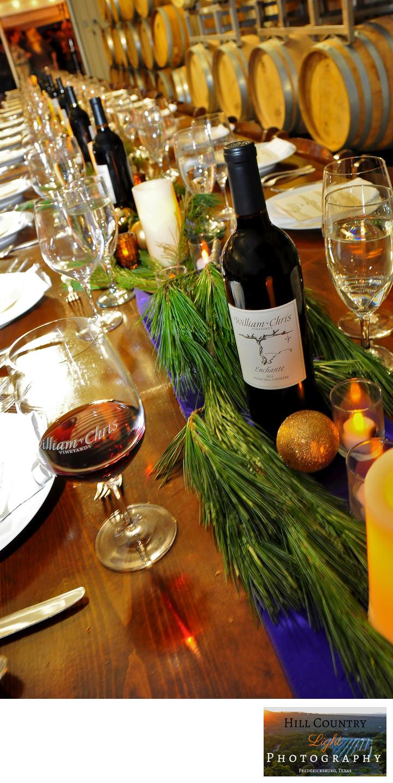 Dinner in the Wine Cellar at William Chris Vineyards Hye Tx