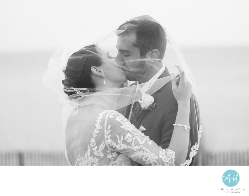 cape may beach wedding photo