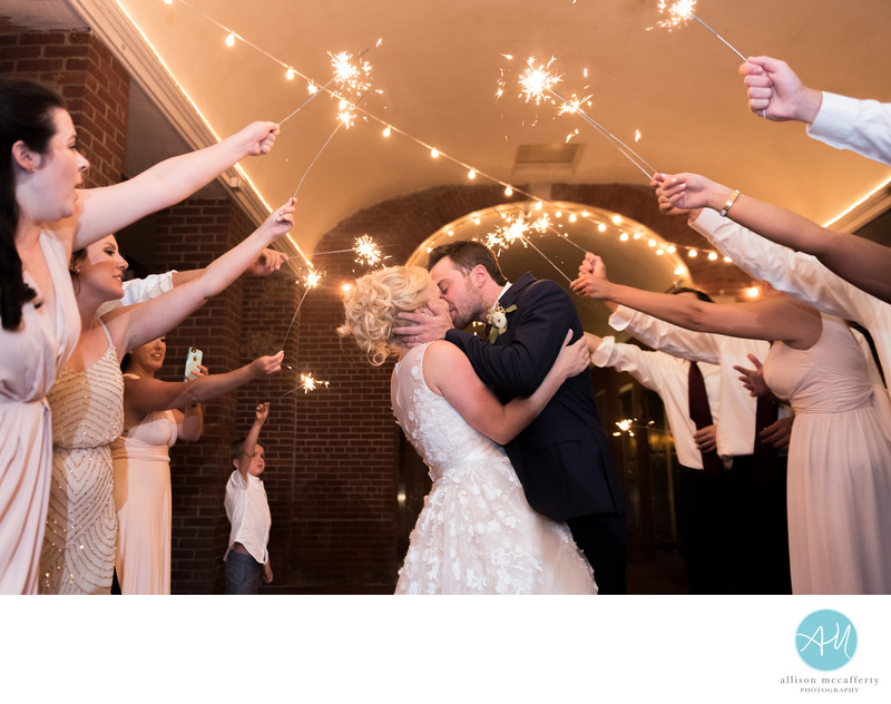 Philadelphia Wedding Sparkler Photos