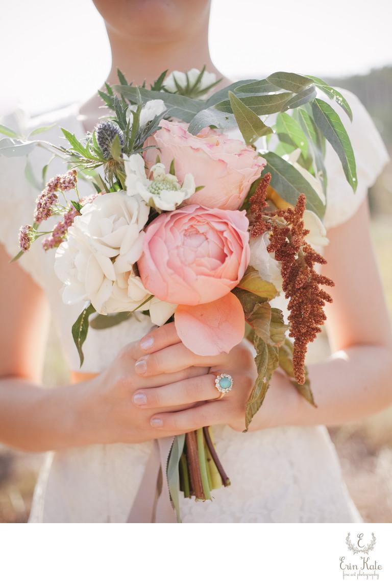 Wild Organic Flower Girl Bouquet