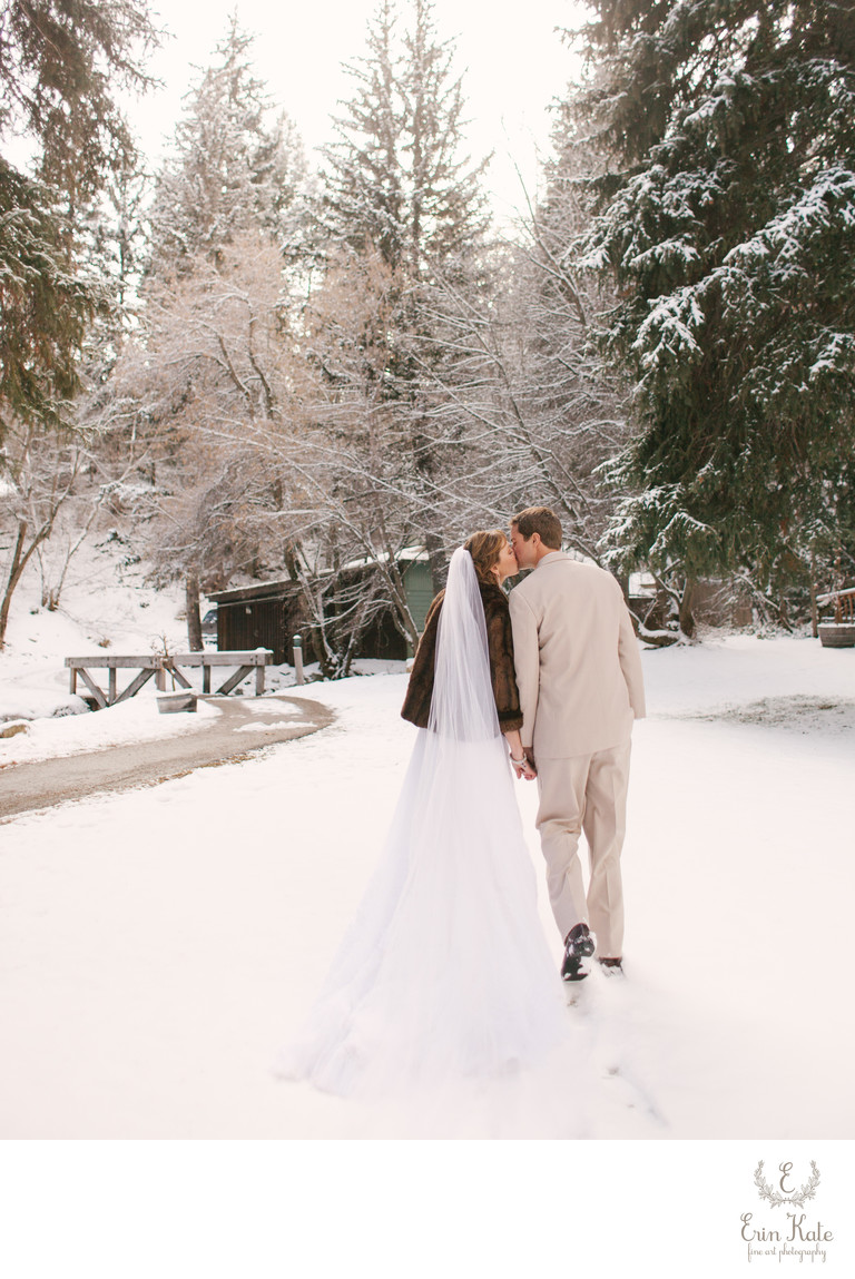 Winter Wedding Photography at Sundance Resort