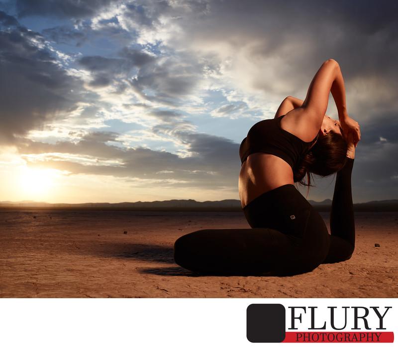 A Yoga Sunrise Lifestyle Photoshoot with Katie Elliott