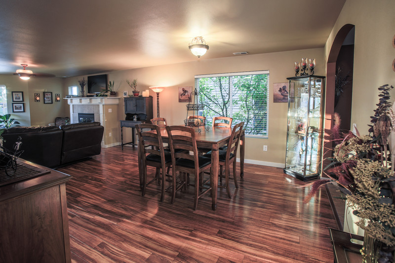 Seattle Skagit County Real Estate Photography Photographer Wood Floor Dining Room
